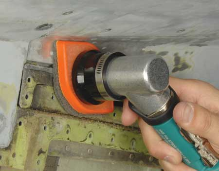 Dynabrade Right-Angle Die Grinder Aerospace Industry